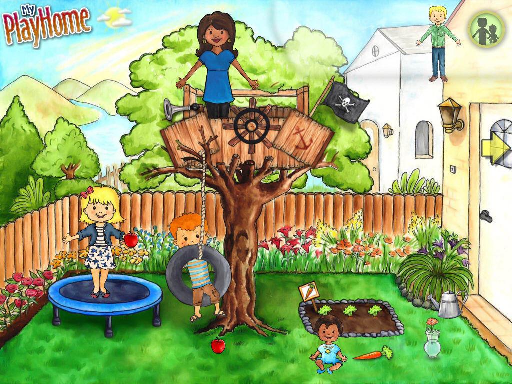 Takapihalla voi kasvattaa porkkanoita ja hyppiä trampoliinilla.