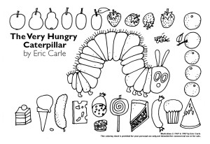 Very Hungry Caterpillar ColoringSheet